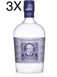(3 BOTTLES) Diplomatico - Planas - White Rum - 6 Years - 70cl