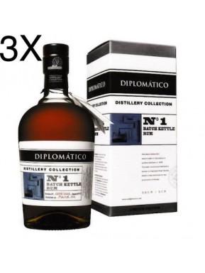 (3 BOTTIGLIE) Diplomatico - N. 1 - Single Kettle Batch - Limited Edition - 70cl