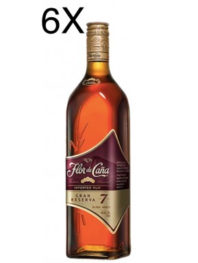 (6 BOTTIGLIE) Flor de Caña - Rum Grand Reserve - 7 anni - 70cl