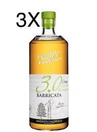 (3 BOTTLES) Mazzetti d'Altavilla - 3.0 Grappa Barricata - 70cl