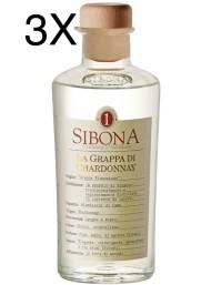 (3 BOTTIGLIE) Sibona - Grappa di Chardonnay - 50cl