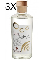 (3 BOTTIGLIE) Sibona - Distillato d'Uva - Uve di Langa - 50cl