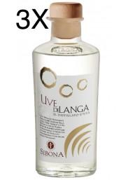(3 BOTTLES) Sibona - Sibona - Distillato d'Uva - Uve di Langa - 50cl