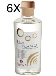 (6 BOTTLES) Sibona - Sibona - Distillato d'Uva - Uve di Langa - 50cl