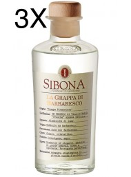(3 BOTTLES) Sibona - Grappa di Barbaresco - 50cl