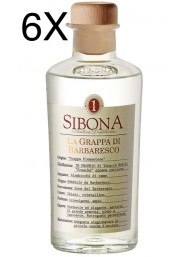 (6 BOTTLES) Sibona - Grappa di Barbaresco - 50cl