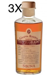 (3 BOTTLES) Sibona - Grappa Tuttogrado - 50cl