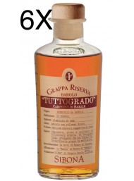 (6 BOTTLES) Sibona - Grappa Tuttogrado - 50cl