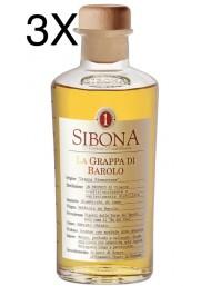 (3 BOTTIGLIE) Sibona - Grappa di Barolo - 50cl