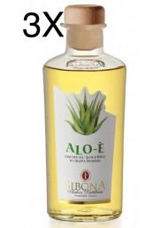 (3 BOTTLES) Sibona - Grappa Alo-è - Aloe and Honey - 50cl