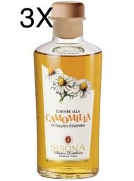 (3 BOTTLES) Sibona - Grappa chamomile - 50cl
