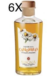 (6 BOTTLES) Sibona - Grappa chamomile - 50cl