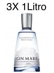 (3 BOTTIGLIE) Gin Mare - Mediterranean Gin - Colecciòn de Autor - 100cl - 1 Litro
