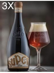 (3 BOTTIGLIE) Baladin - Super - Birra Ambrata Doppio Malto - 75cl