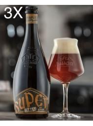 (3 BOTTLES) Baladin - Super Bitter - Amber Beer Lager - 75cl