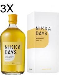 (3 BOTTIGLIE) Nikka - Days - Smooth & Delicate Blended Whisky - 70cl - Astucciato