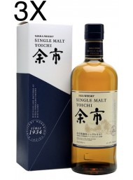 (3 BOTTLES) Nikka - Yoichi - Single Malt Whisky - 70cl