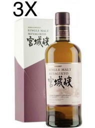 (3 BOTTLES) Nikka - Single Malt Miyagikyo - No age - 70cl