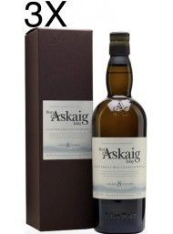 (3 BOTTLES) Port Askaig - 8 Years - Islay Single Malt Scoth Whisky - 70cl - Astucciato