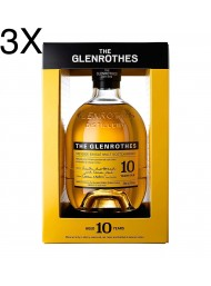 (3 BOTTIGLIE) The Glenrothes - 10 Year Old - Single Malt Whisky - 70cl - Astucciato