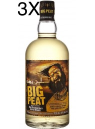 (3 BOTTLES) Douglas Laing's - Big Peat - Islay Blended Malt Scotch Whisky - 70cl
