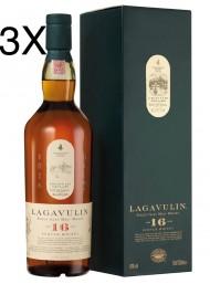 (3 BOTTIGLIE) Lagavulin - Islay Single Malt - 16 anni - 70cl