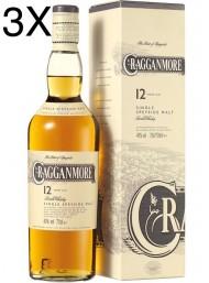 (3 BOTTIGLIE) Cragganmore  - Speyside Single Malt - 12 anni - 70cl