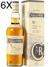 (6 BOTTIGLIE) Cragganmore  - Speyside Single Malt - 12 anni - 70cl
