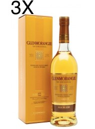 (3 BOTTLES) Glenmorangie  - Highland Single Malt - 10 years old - 70cl