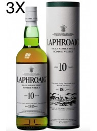 (3 BOTTIGLIE) Laphroaig - Islay Single Malt - 10 anni - 70cl