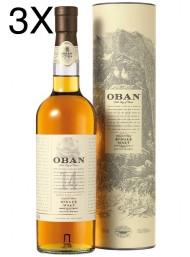 (3 BOTTIGLIE) Oban - West Highland Single Malt - 14 anni - 70cl
