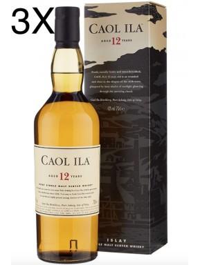 (3 BOTTLES) Caol Ila - Isley Single Malt - 12 years - 70cl