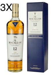 (3 BOTTLES) Macallan - Highland Single Malt - 12 years - 70cl