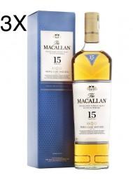 (3 BOTTIGLIE) Macallan - Highland Single Malt - 15 anni - Triple Cask - Astucciato - 70cl