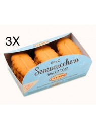 (3 CONFEZIONI X 280G) Corsini - Biscottoni Senza Zucchero -