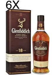 (6 BOTTLES) Glenfiddich - Single Malt Scotch Whisky - 18 anni - 70cl - Astucciato