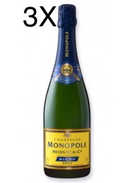 (3 BOTTLES) Heidsieck & Co - Monopole - Blue Top - Brut - Champagne - 75cl