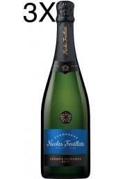 (3 BOTTLES) Nicolas Feuillatte - Brut Réserve - Champagne - 75cl
