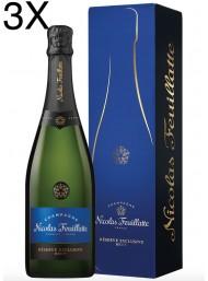 (3 BOTTLES) Nicolas Feuillatte - Brut Réserve - Champagne - 75cl - Gift box