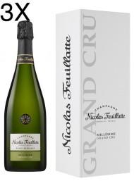 (3 BOTTIGLIE) Nicolas Feuillatte - Grand Cru Chardonnay Vintage 2012 - Blanc de Blancs - Champagne - 75cl - Astucciato
