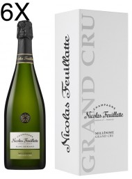 (6 BOTTLES) Nicolas Feuillatte - Grand Cru Chardonnay Vintage 2012 - Blanc de Blancs - Champagne - 75cl - Gift Box