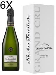 (6 BOTTIGLIE) Nicolas Feuillatte - Grand Cru Chardonnay Vintage 2012 - Blanc de Blancs - Champagne - 75cl - Astucciato