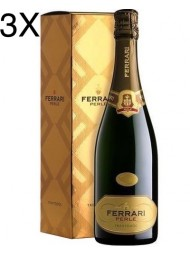(3 BOTTLES) Ferrari - Perlè 2015 - Trento DOC - 75cl - Gift Box