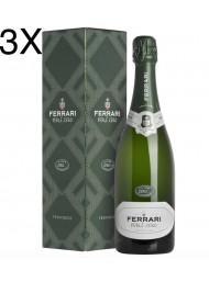 (3 BOTTLES) Ferrari - Perlè Zero - Cuvee Zero 2012 - Trento DOC - Gift box
