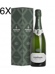 (6 BOTTLES) Ferrari - Perlè Zero - Cuvee Zero 2012 - Trento DOC - Gift box