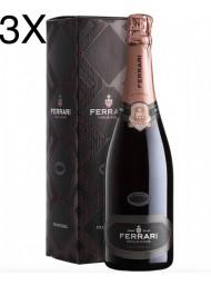 (3 BOTTIGLIE) Ferrari - Perlè Rosé 2015 - Trento DOC - 75cl