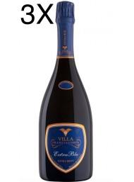 (3 BOTTLES) Villa - Extra Blu - Extra Brut - Millesimato 2013 - Franciacorta - 75cl