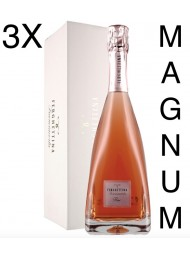 (3 BOTTIGLIE) Ferghettina - Milledi' Rose' 2015 - Magnum Astucciato - Franciacorta DOCG - 150cl