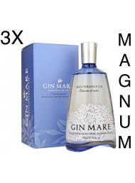 (3 BOTTLES) Gin Mare Magnum - Mediterranean Gin - Colecciòn de Autor - 175cl.