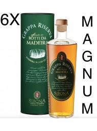 (6 BOTTIGLIE) Sibona Magnum 1,5 lt - Grappa Riserva - Affinata in Botti da Madeira